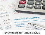 income statement report with...   Shutterstock . vector #283585223