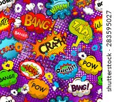 comic speech bubbles seamless... | Shutterstock .eps vector #283595027