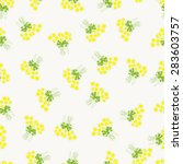 seamless pattern with chamomile ...   Shutterstock .eps vector #283603757