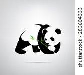 vector symbol of a panda