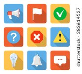 flat notification icons with...