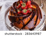 Cake With Strawberries And...