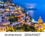 Night View Of Positano Village...