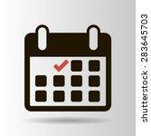 calendar flat icon   vector | Shutterstock .eps vector #283645703