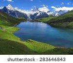 swiss beauty  bachalpsee under... | Shutterstock . vector #283646843