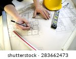 tools to design a new home | Shutterstock . vector #283662473