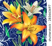 seamless floral pattern with...   Shutterstock .eps vector #283663697
