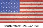 united states of america grunge ... | Shutterstock .eps vector #283664753