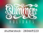 hand drawn textured words ... | Shutterstock .eps vector #283669223