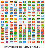 flag of world. vector icons | Shutterstock .eps vector #283673657