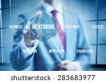 business mentoring concept ... | Shutterstock . vector #283683977