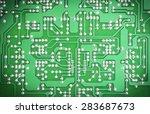Closeup Of Electronic Green...