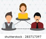 networking design over white... | Shutterstock .eps vector #283717397
