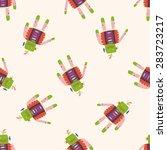 robot   cartoon seamless... | Shutterstock . vector #283723217