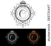 letter o. luxury logo template...   Shutterstock .eps vector #283731647