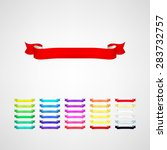 vector ribbons set | Shutterstock .eps vector #283732757