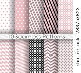 set of 10 seamless vector... | Shutterstock .eps vector #283753823
