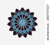 abstract flower symbol | Shutterstock .eps vector #283757027
