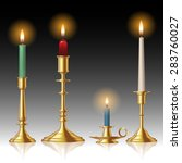 Retro Candlesticks With Candle...