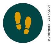 black imprint soles shoes icon. ...