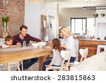 family saying grace before... | Shutterstock . vector #283815863