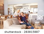 family spending time together... | Shutterstock . vector #283815887