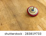 Spinning Top. A Wooden Spinnin...
