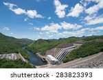 the power station at the... | Shutterstock . vector #283823393