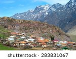 stepantsminda  formerly kazbegi ... | Shutterstock . vector #283831067