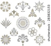 vector floral set.  spring or...