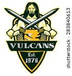 vulcan logo blacksmith with... | Shutterstock .eps vector #283840613