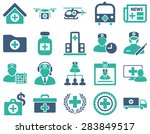medical icon set. style ... | Shutterstock .eps vector #283849517