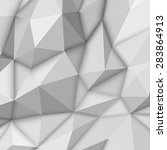 white abstract low poly ... | Shutterstock .eps vector #283864913