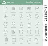 25 interface elements vector...