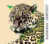 jaguar illustration | Shutterstock . vector #283873217