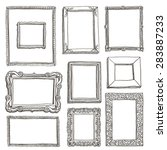 vector hand drawn frames | Shutterstock .eps vector #283887233