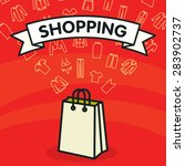 vector template with shopping... | Shutterstock .eps vector #283902737