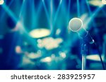 close up of microphone on...   Shutterstock . vector #283925957