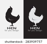 vector image of an hen on white ... | Shutterstock .eps vector #283939757
