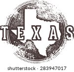 vintage texas usa state stamp | Shutterstock .eps vector #283947017