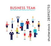 group of businessman and... | Shutterstock .eps vector #283952753