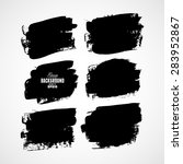 grunge ink hand drawn squares | Shutterstock .eps vector #283952867