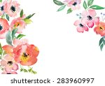 card template with watercolor... | Shutterstock . vector #283960997