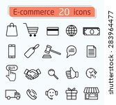 e commerce and shopping icons... | Shutterstock .eps vector #283964477
