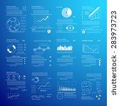 transparent infographic set ... | Shutterstock .eps vector #283973723