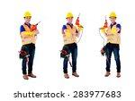 asian construction worker ... | Shutterstock . vector #283977683