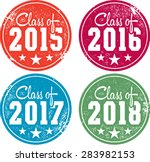 class of 2015  2016  2017 and... | Shutterstock .eps vector #283982153