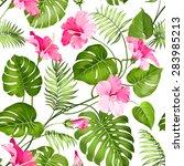 Seamless Tropical Flower....