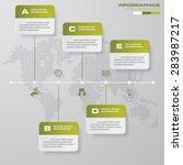 time line description. 5 steps... | Shutterstock .eps vector #283987217