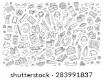 art and craft hand drawn vector ... | Shutterstock .eps vector #283991837